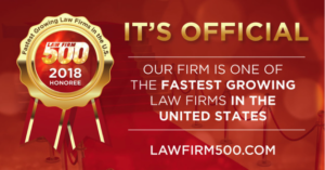 2018 Law Firm 500 Award - Fastest Growing Law Firms in United States