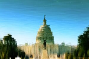 reflection of capital building in water